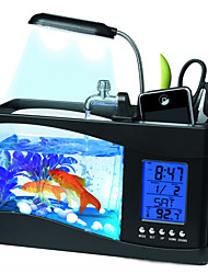 Mini aquariums Fonds Ornements Comprend Interrupteur(s) Artificiel Plastique Noir