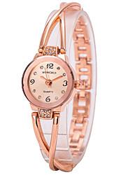 Bracelet Watch Imitation Diamond Quartz Alloy Band Charm Gold Strap Watch