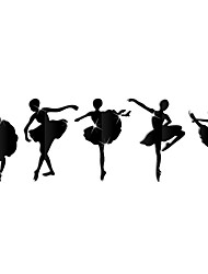 The ballet girl decoration diy wall mirror wall stick