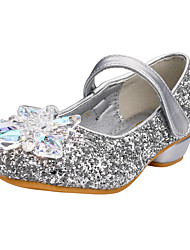 Heels Spring Fall Comfort Flower Girl Shoes Glitter Wedding Outdoor Office & Career Party & Evening Dress Casual Low HeelRhinestone
