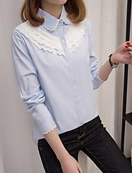 unterzeichnen 40% Baumwolle 17 Jahre Frühjahr dünnen Abschnitt der koreanischen dünnes Hemd weiblich