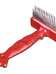 Dog Grooming Health Care Grooming Kits Comb Pet Grooming Supplies Portable Red Stainless Steel