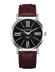 Муж. Модные часы Кварцевый Защита от влаги Кожа Группа Повседневная Черный Коричневый
