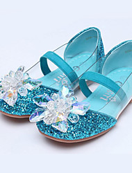 Girls Cinderella Glass Slipper Princess Crystal Shoes Soft Bottom Dress shoes Princess Performance shoes with Elastic Party Dress Princess Shoes