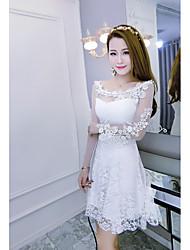 знак 2016 новый воротник тонкий кружева платье без бретелек