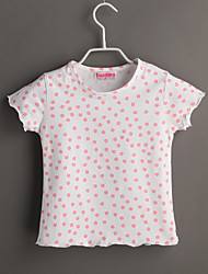 Tee-shirts bébé Imprimé Décontracté / Quotidien-Coton-Eté-Blanc