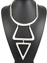 Women's Pendant Necklaces Jewelry Geometric Jewelry Alloy Geometric Fashion Personalized Euramerican Silver Jewelry ForParty Special