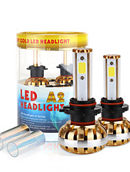 2017 9005 nouvelle puce kit phare 60w 6400lm conduit cob ampoules 6000K 8000K lampes de lumière paire