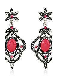 Diamond Opal Stud Earrings Drop Earrings Earrings Jewelry Women Couples Wedding Party Alloy Gem 1 pair Silver