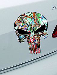 15*12CM PUNISHER Skull Film Classic Car Stickers Motorcycle Decals Car Accessories2PCS)