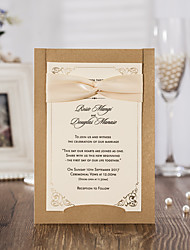 Personalizado Embrulhado e de Bolso Convites de casamentoConjuntos de Convites Cartões Pré-Convite Envelope Etiqueta do envelope Fan
