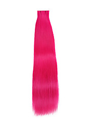 20PCS Tape In Hair Extensions Pink 40g 16Inch 20Inch 100% Human Hair For Women