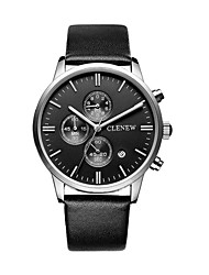 The New Card Force Cattle CLENEW Watch Creative Design Running Three Three-pin Single-Delt Neather Watch Male Watch