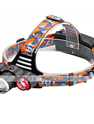 U'King® ZQ-X814R Three Head 1*T6/2*XPE 5000LM Zoomable Multifunction 4Modes Headlamp Bike Light with Safety Rear LED