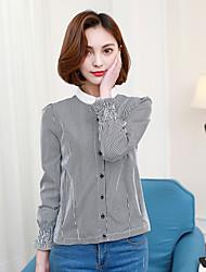 Langarmhemd weibliche Puppe Kragen-Shirt Frauen&# 39; s 2017 Frühjahr neue schwarz-weiß kariertes Hemd