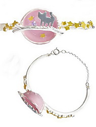 Chain Bracelet Fashion Alloy Star Animal Shape Cat Jewelry For Birthday Gift Christmas Gifts