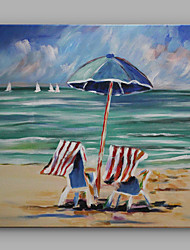 IARTS®Hand Painted Oil Painting Seaside Landscape Sitting on The Beach of Holiday C With Stretched Frame