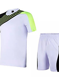 Unisex Soccer Clothing Sets/Suits Comfortable Spring Summer Fall/Autumn Winter Patchwork Polyester Leisure Sports Football/SoccerYellow