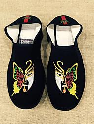Herren Loafers & Slip-Ons paar Schuhe PU Frühling Normal paar Schuhe Flacher Absatz Schwarz Flach