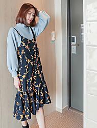 новый товар спот корея над Соединенными Штатами печати Жгут платье дикий