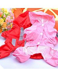 Hunde Regenmantel Rot Rosa Hundekleidung Frühling/Herbst einfarbig Lässig/Alltäglich