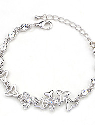 Bracelet Chain Bracelet Crystal Alloy Round Natural Fashion Party Engagement Valentine Jewelry Gift White,1pc