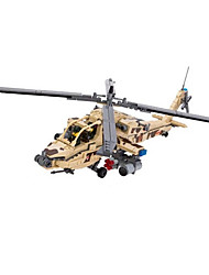 Building Blocks For Gift  Building Blocks Model & Building Toy Helicopter 5 to 7 Years 8 to 13 Years 14 Years & Up Khaki Toys