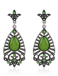 Diamond Opal Crystal Stud Earrings Drop Earrings Earrings Jewelry Women Party Crystal Alloy 1 pair Silver