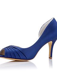 каблуки весна лето осень вечеринка комфорт ткани свадьба&вечернее платье стилет каблук синий