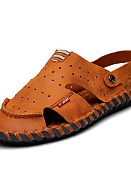 Sandals Spring Summer Fall Comfort Nappa Leather Outdoor Office & Career Casual Brown Water Shoes