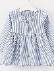 Girl's Embroidered Dress,Cotton Summer Long Sleeve