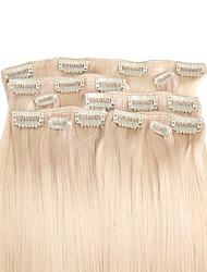 9pcs / set deluxe 120g Clip in Haarverlängerungen bleichen blonde 16inch 20inch 100% gerade menschliches Haar für Frauen