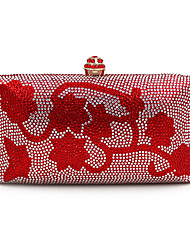 L.west Women Elegant High-grade Flower Diamonds Evening Bag