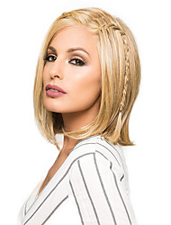 une longueur de menton droite bob coiffure avant de dentelle perruque blonde cheveux humains chaleur amicale