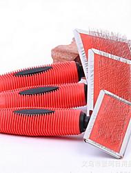 Chien Toilettage Santé Kits de toilettage Peignes Animaux de Compagnie Accessoires de Toilettage Portable Rouge Acier inoxydable
