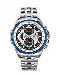 Relógio Esportivo Quartzo / Lega Banda Vintage Branco Dourado Preto Azul Escuro