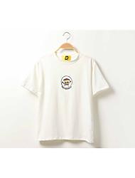 signe été nouvelle version coréenne du dessin animé super meng crayon gros amples et confortables broderie Verges femmes t-shirt manches