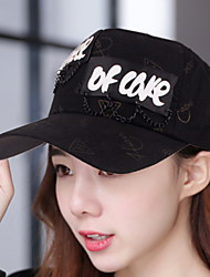 Women 's Spring Summer Chain English Printing Cotton Baseball Cap