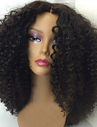New Kinky Curly Lace Front Human Hair Wigs 100% Brazilian Virgin Hair Wigs Natural Color Lace Front Wig For Women