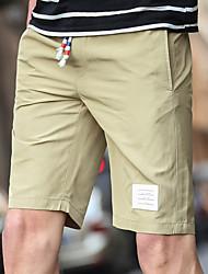 Homme Grandes Tailles Droite Chino Short Pantalon,Décontracté / Quotidien Plage Vacances Vintage simple Punk & Gothic Couleur Pleine