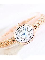 Mulheres Relógio de Moda Quartzo Lega Banda Casual Legal Ouro Rose Ouro Rose