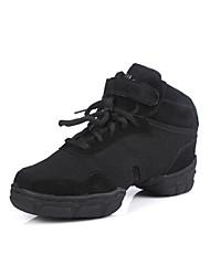 Maßfertigung-Blockabsatz-Stoff Beflockung Kunststoff-Tanz-Turnschuh-Schuhe unisex