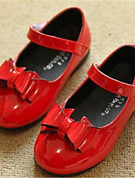 Girl's Flats Comfort PU Outdoor Athletic Casual Red White Running