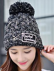 Männer und Frauen lable Englisch gedruckt Stifte gewebt strecken Ski Outdoor Strickwaren Vintage lässig Hut