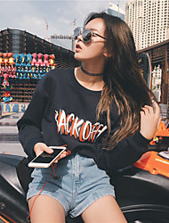 Zhang Zhi research with 17 new spring models back off graffiti Sweatshirts