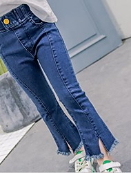 Girls' Casual/Daily Solid Jeans-Cotton Summer Spring Fall