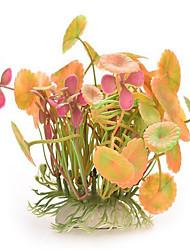 Décoration d'aquarium Plante d'eau Non toxique & Sans Goût Plastique Orange