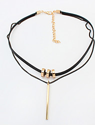 Women's Choker Necklaces Pendant Necklaces Alloy Round Fashion Gold Jewelry Daily 1pc