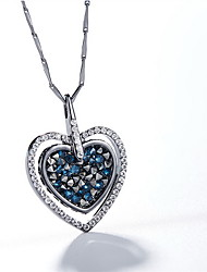 Pendant Necklaces Crystal Crystal Heart Basic Dangling Style Dark Blue Jewelry Daily Casual 1pc