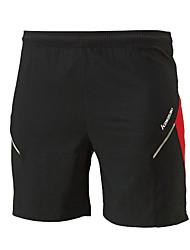 Unisex Running Shorts Comfortable Summer Badminton Polyester Loose Leisure Sports Athleisure Activewear Black Solid